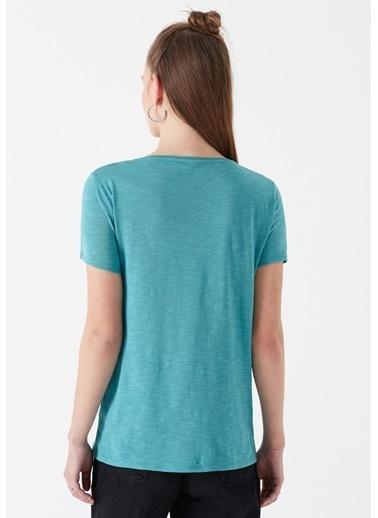 Mavi Kadın  V Yaka Tişört 168260-30735 Mavi
